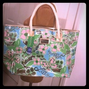 Lilly Pulitzer shore line tote